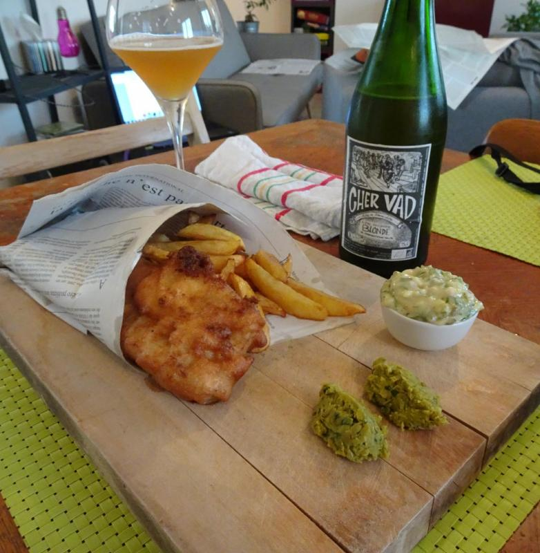 Fish and chips bière blonde accords mets-vins oenoskol