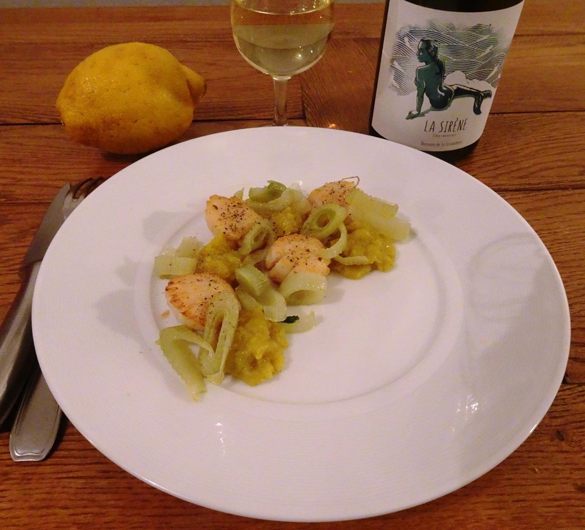 Chardonnay La Fessardière vignoble nantais ŒnoSkol noix de saint jacques